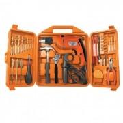 Caixa de Ferramentas Kit  33 Peças + Furadeira Parafusadeira 500W 1/2´ Velocidade Variável 110V  fi-315k1 Toolmix