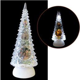 Enfeite Natal Arvore Cristal Acrílico 27cm Iluminação, Decoração e Musica - Natalia Christmas