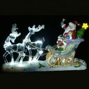 Enfeite de Natal Trenó Cristal Acrílico 28cm - Natalia Christmas