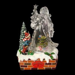 Enfeite de Natal Papai Noel Acrílico 24cm - Natalia Christmas