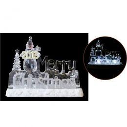 Enfeite de Natal Acrílico Iluminado 18x23cm - Natalia Christmas