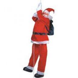 Papai Noel Rapel Vermelho 1,5m Boneco Escalador - Natalia Christmas