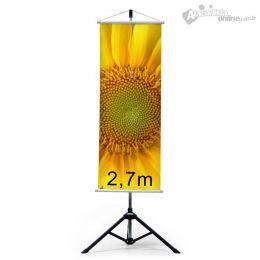 Suporte Banner Regulagem até 2,70m  - trbanner  Visograf