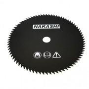 Lamina Faca 80 Dente Roçadeira 255 x 25,5 x 1,5 mm Nakashi