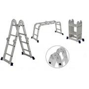 Escada Multifuncional 4x3 Alumínio 8 Degraus 150Kg  - Strong