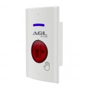 Acionador Fechadura Eletrica AF12-IRE Agl No Touch 4x2 Embut