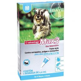Advantage Max3 Pipeta 1Ml Bayer Pet
