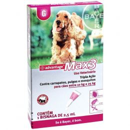 Advantage Max3 Pipeta 2,5Ml Bayer Pet