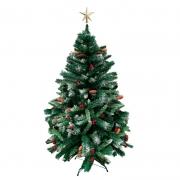 Arvore Natal Decorada Alpina Nevada 1,8m 660 Galhos Magizi