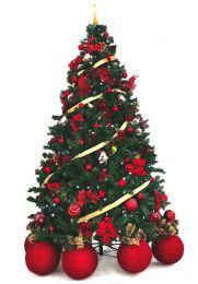 Árvore Natal Imperial Decorada 2,40m 1460 G 156 Pçs Mil Leds