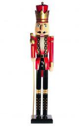 Boneco Natal 1,2m Quebra Nozes Guarda King Magizi