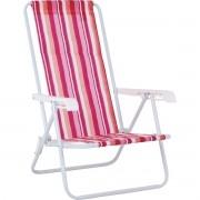 Cadeira De Praia 4 Posicoes Adulto Mor
