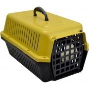 Caixa Transporte Caes E Gatos N 01 Amarela Pet