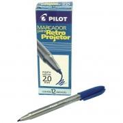 Caneta Retroprojetora Azul Pilot Cx/12