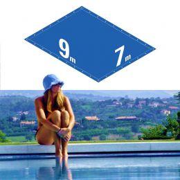 Capa Piscina 7x9 m (9x7) Dreno 32 Pinos 300 Micra CapaKit