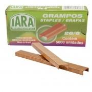 Grampo Grampeador Cobre 26/6 Iara C/5000