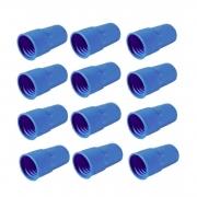 "Kit 12 Adaptador Ponteira Azul Mangueira Piscina 38mm 1 1/2"""