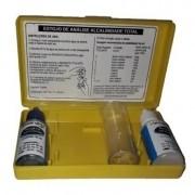 Kit Teste Alcalinidade Total Piscina c/ Estojo Herbinject