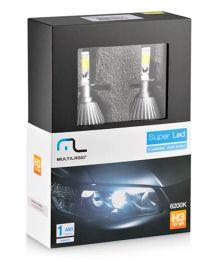 Lampadas Automotiva H3 30W 6200K Super Led au824 Multilaser