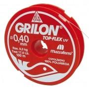Linha De Pesca Branca Grilon 100M 050 Cx/20