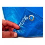 Lona Leve Azul Cobertura Forro Carga 4x6 m (6x4) 300 Micras