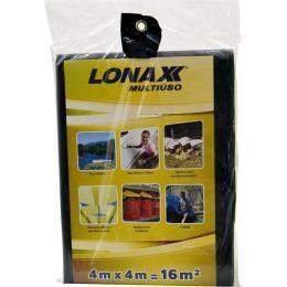 Lona Multiuso Preta 4X4M Lonax