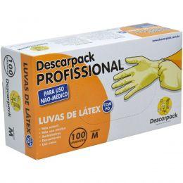 Luva Latex M Procedimento Industrial Descarpack Cx/100