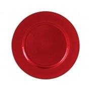 Sousplat Vermelho Gliter 33 cm Magizi