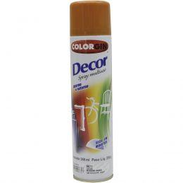 Tinta Spray Colorgin Decor Marrom Barroco 360Ml #A Cx/6