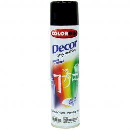 Tinta Spray Colorgin Decor Preto 360Ml #A Cx/6
