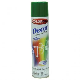 Tinta Spray Colorgin Decor Verde 360Ml #A Cx/6