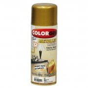 Tinta Spray Colorgin Metalico Ouro 350Ml #A
