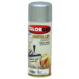 Tinta Spray Colorgin Metalico Prata 350Ml #A Cx/6