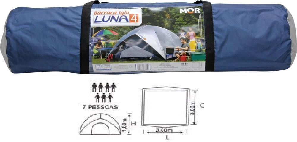 Barraca de Camping Luna Com Sobreteto 7 Pessoas - 2011 Mor