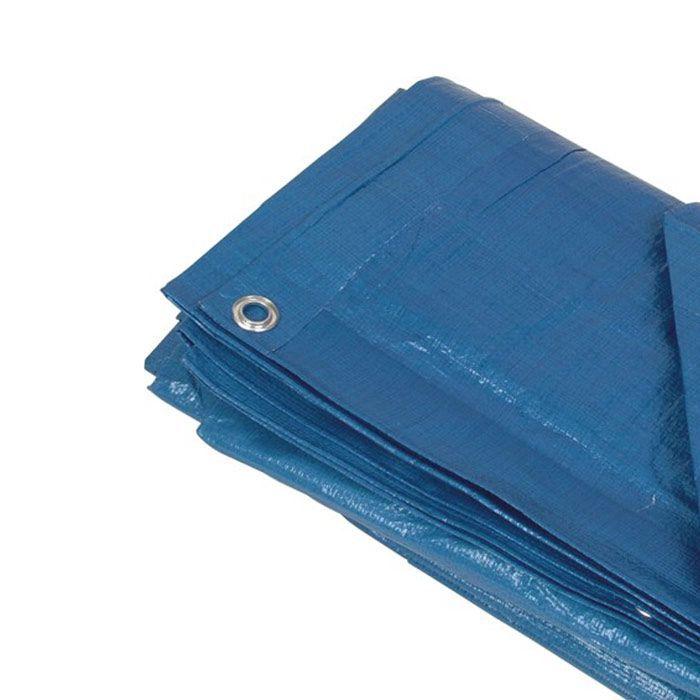 Lona de Cobertura Azul 5x4m c ilhos - 140gm - 180 micras - Strong