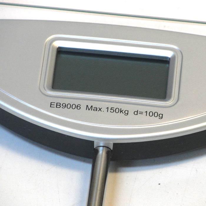 Balanca para Banheiro Digital 150kg Vidro, Aco Escovado 4 Sensores, 12002 - Rochelle