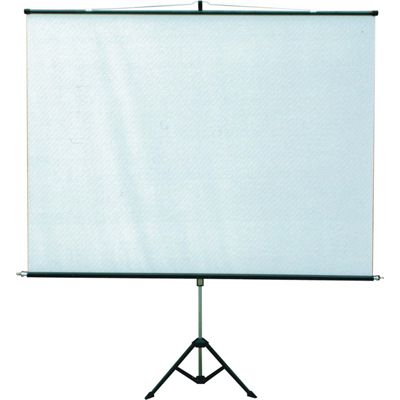 Tela de Projecao Retratil com TRIPÉ 180x180cm 101 polegadas - tlts 180 - Visograf