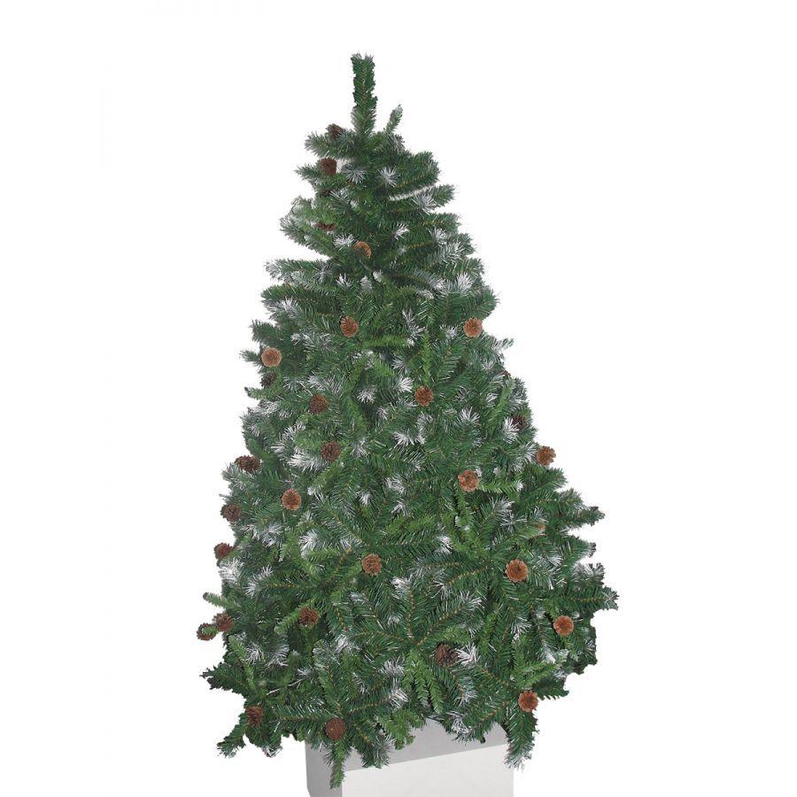 Arvore de Natal Decorada Pinheiro Suiço Nevado  1,80m  1300 Galhos com Pinhas + Brinde 11,9Kg Natalia Chr