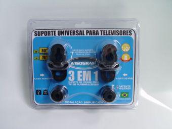 """Suporte Fixo Parede Para TV Led Até 80"""" Reclinável - Sup3em1 Visograf"""