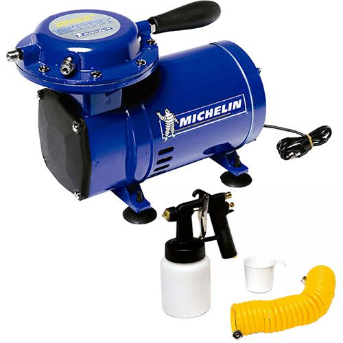 Compressor de Ar Direto Michelin 1750 Rpm 1/3 HP + Kit Pintura mcx25bv Tufãozinho
