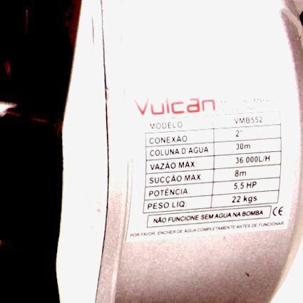 Motobomba Auto escorvante 36.000l/h 5,5hp 163cc 4T vmb-552 Vulcan
