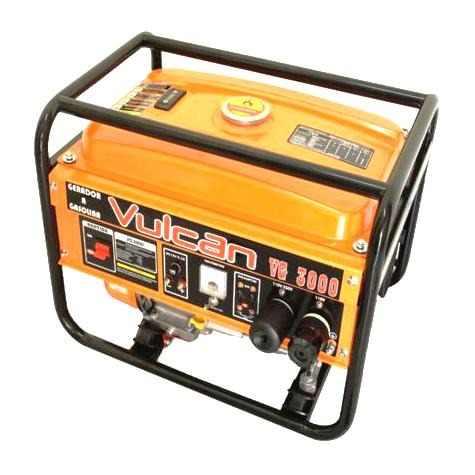 Gerador de Energia a Gasolina 3,1Kva 4T e 12V 3100W - VG-3100 Vulcan