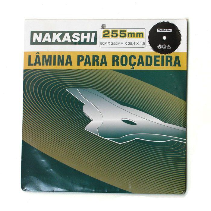 Lamina Faca 3 Ponta Roçadeira 255 x 25,5 x 1,8 mm Nakashi
