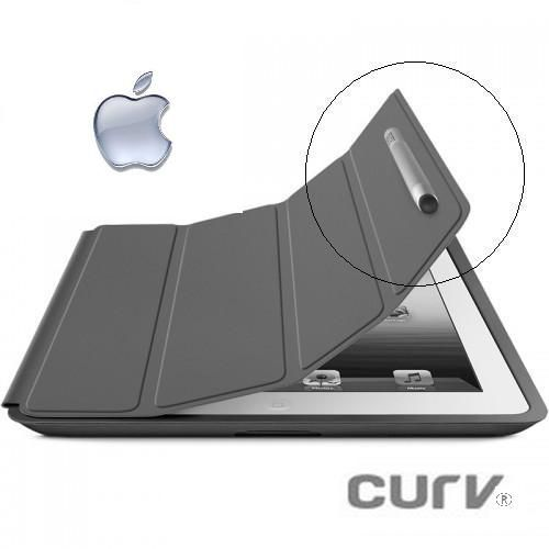 FL-Caneta Stylus Touch Ipad Tablet Profissional Fixador Magnético cor Grafite - Curv