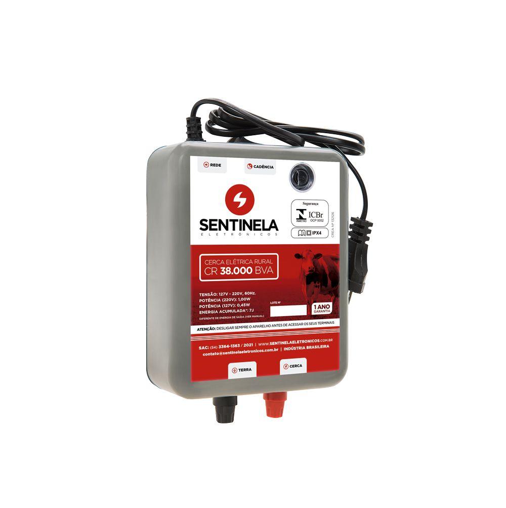 Eletrificador de Cerca Rural  38km BVA 6,5 KM - Sentinela