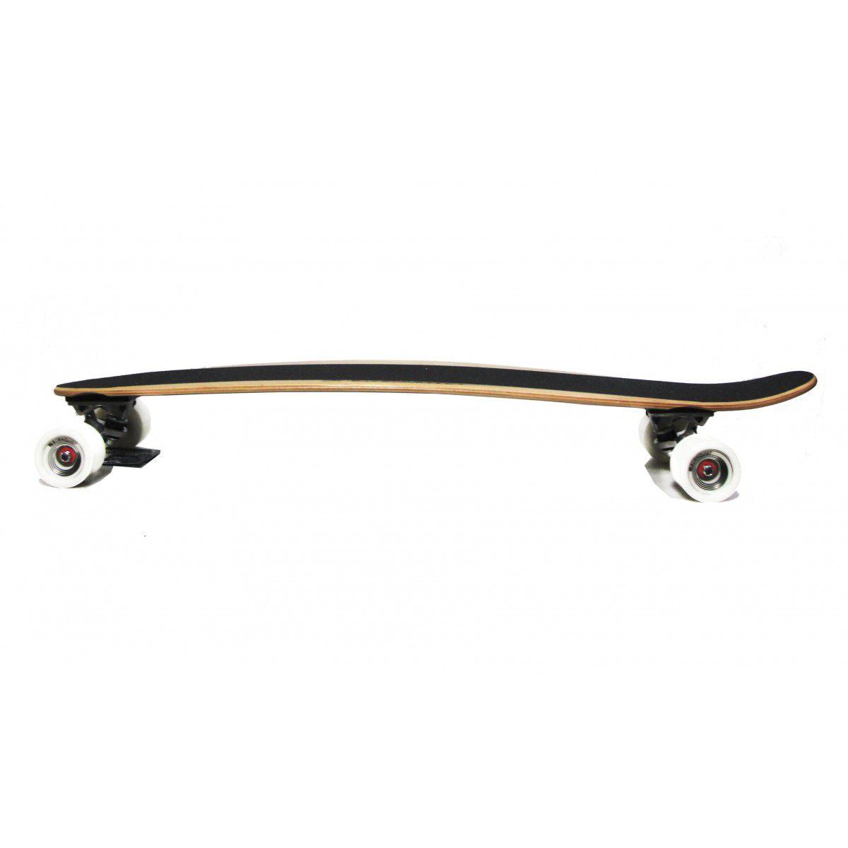 Longboard Profissional Pintall Cruising + Kit Proteçao Brinde  Bob Burnquist Skate - Multilaser