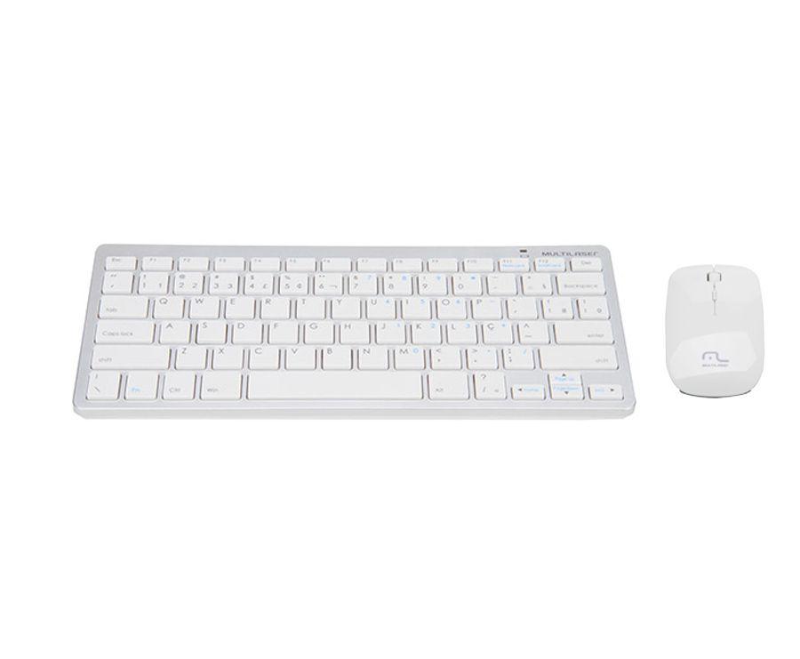Teclado e Mouse sem fio Branco - tc165 Multilaser
