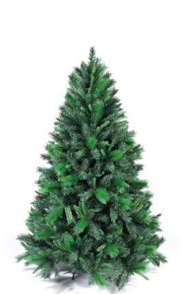 Arvore de Natal Pinheiro Finlandesa 2,10m verde 1800 galhos 14,5kg com ponteira e pés metal - Natalia Chr
