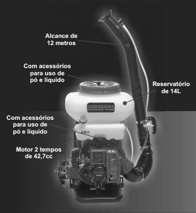 FL-Atomizador Costal 43cc  12m - kw4314 Kawashima