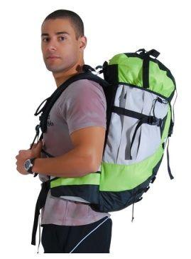 Mochilão de Camping Cargueira 60L Tecido Ripstop 58x33x23cm - Mor